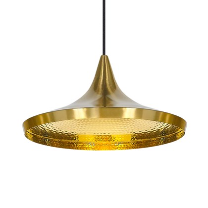 CLEARANCE Tom Dixon Beat Wide Pendant: Brushed Brass