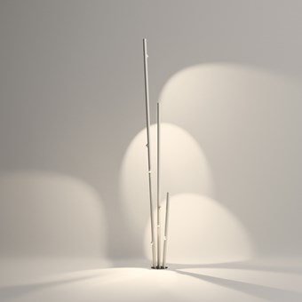 Vibia Bamboo Triple Exterior Floor Lamp