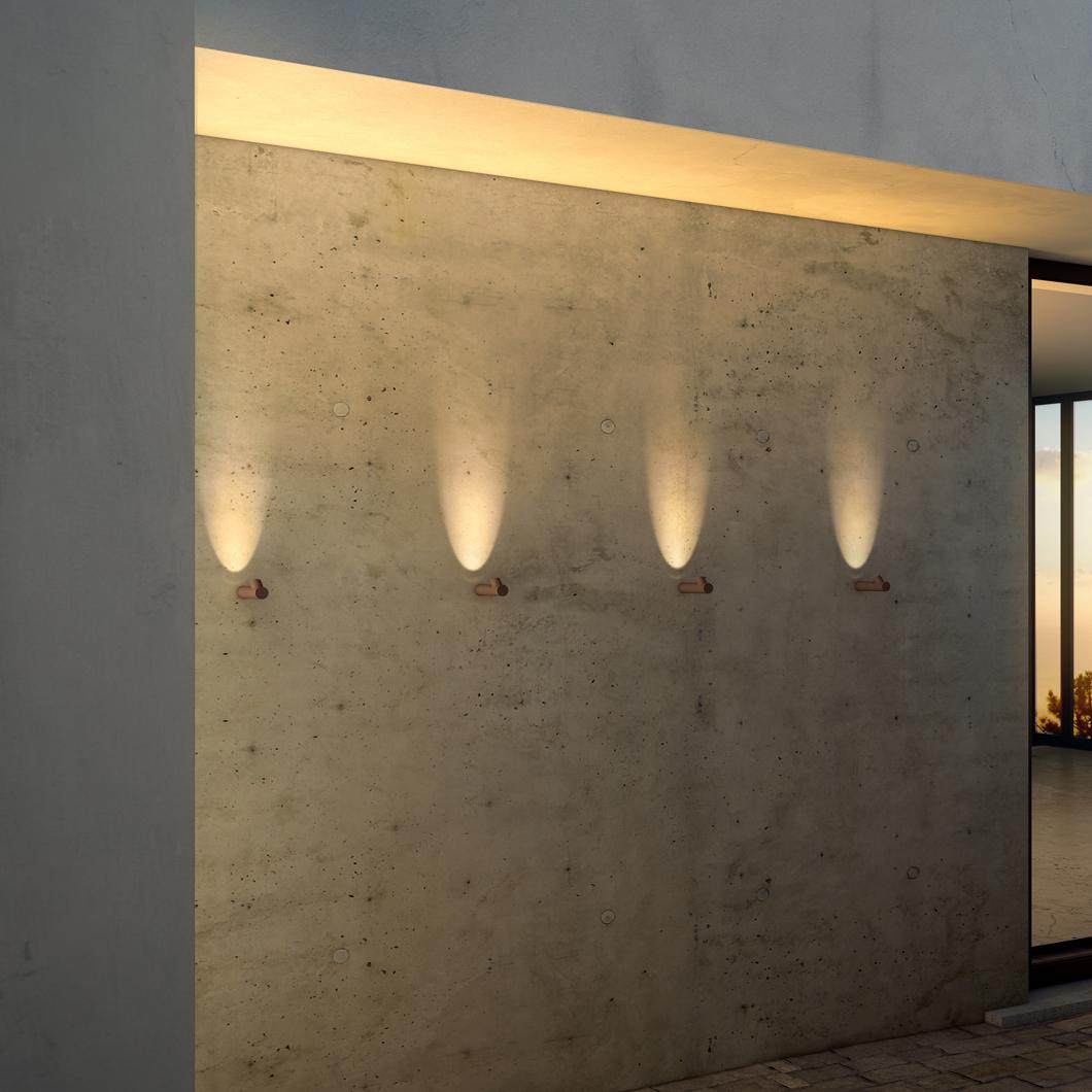 Vibia Bamboo Exterior Wall Light Darklight Design Lighting Design Supply