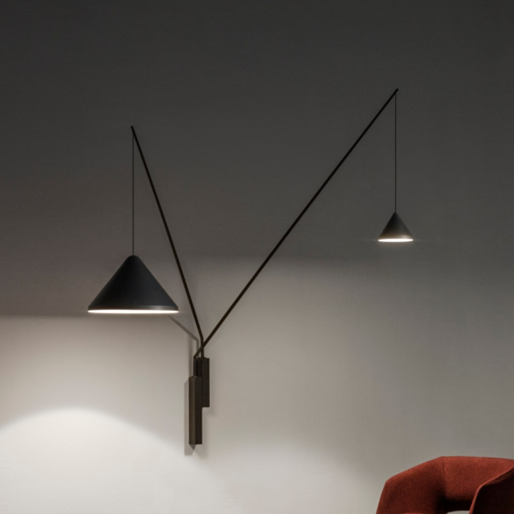 Vibia North Fixed Double Wall Light Darklight Design