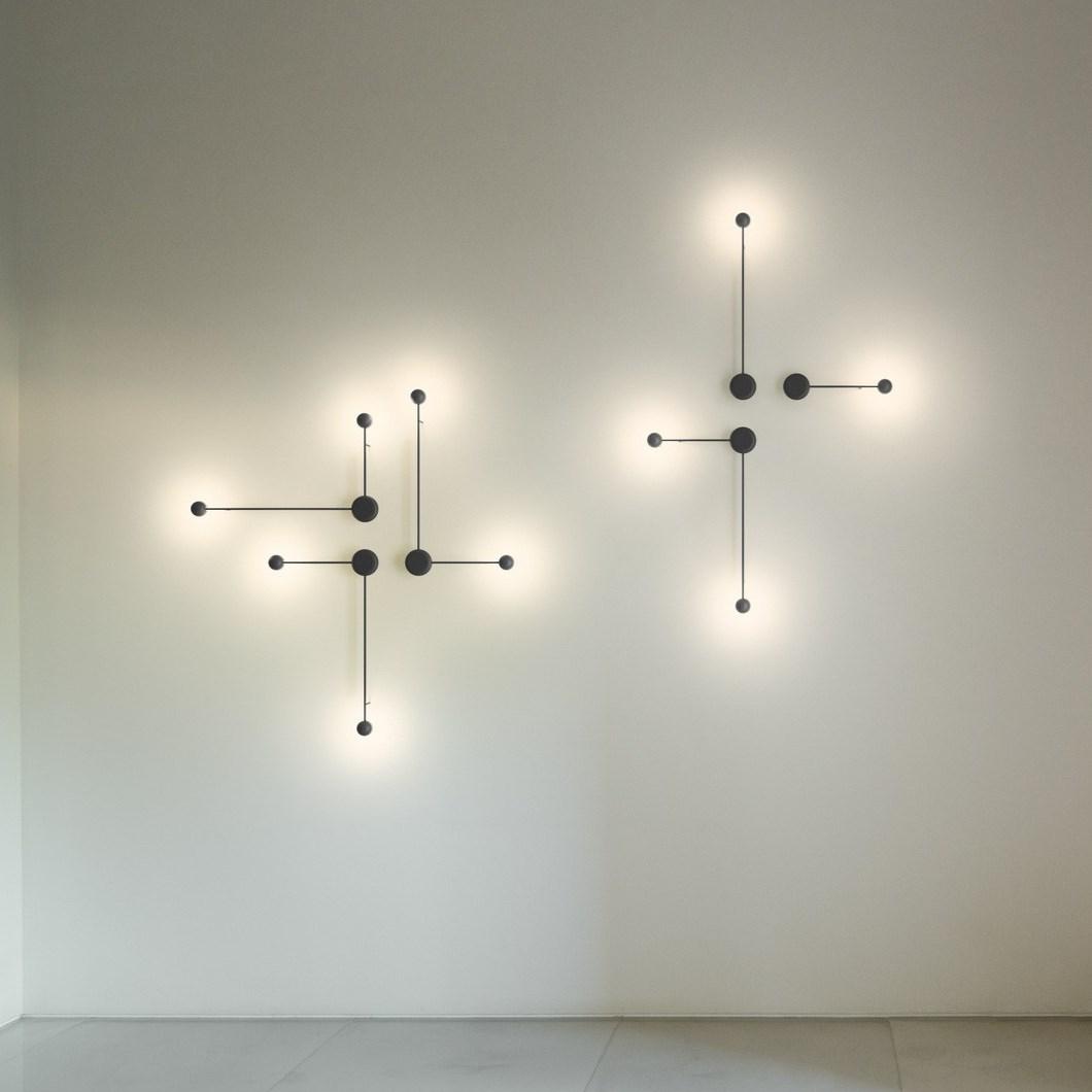 Vibia Pin Compositional Wall Light Darklight Design
