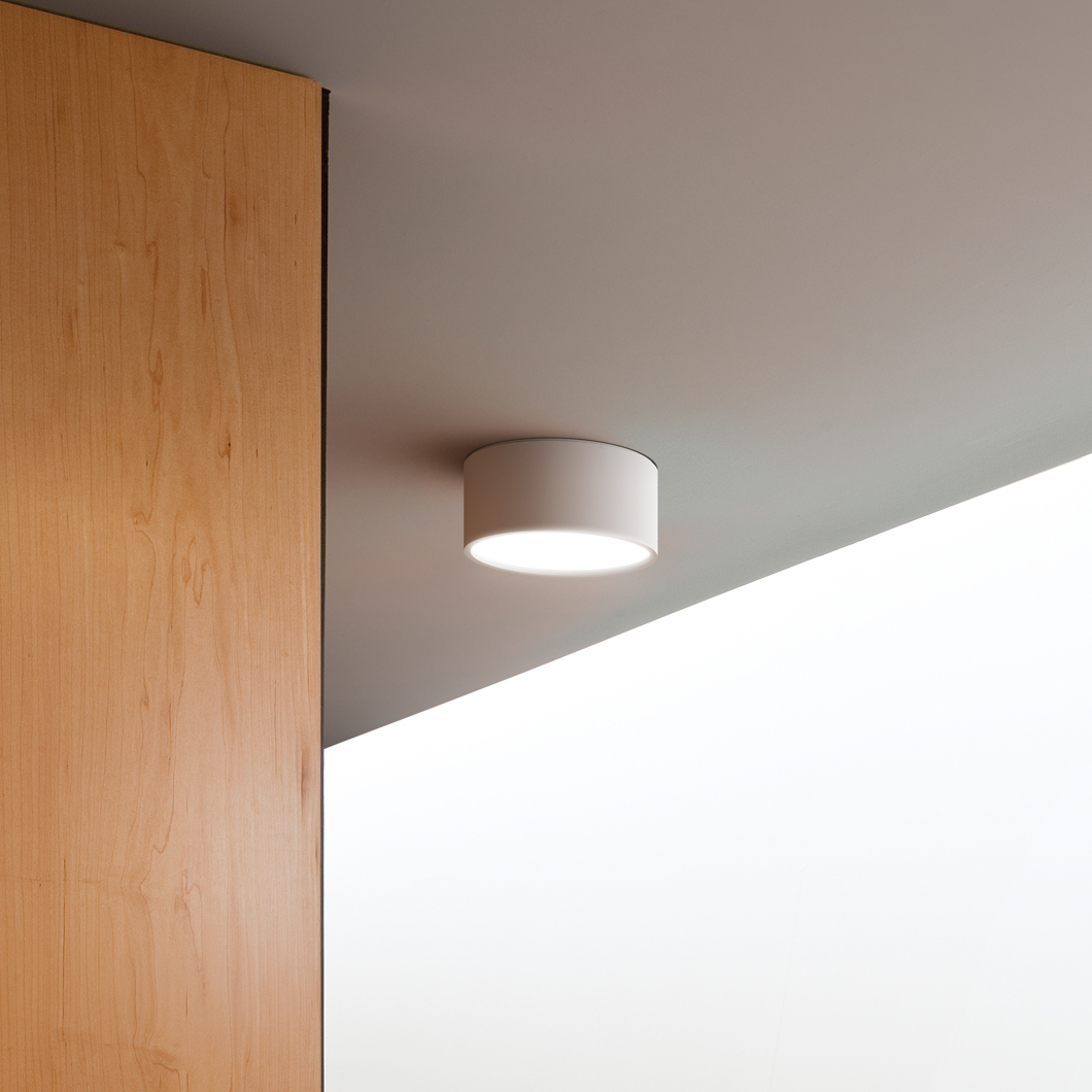 Vibia Plus Cylindrical Exterior Ceiling Light Darklight Design Lighting Design Supply