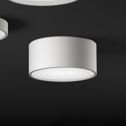 Vibia Plus Cylindrical Exterior Ceiling Light