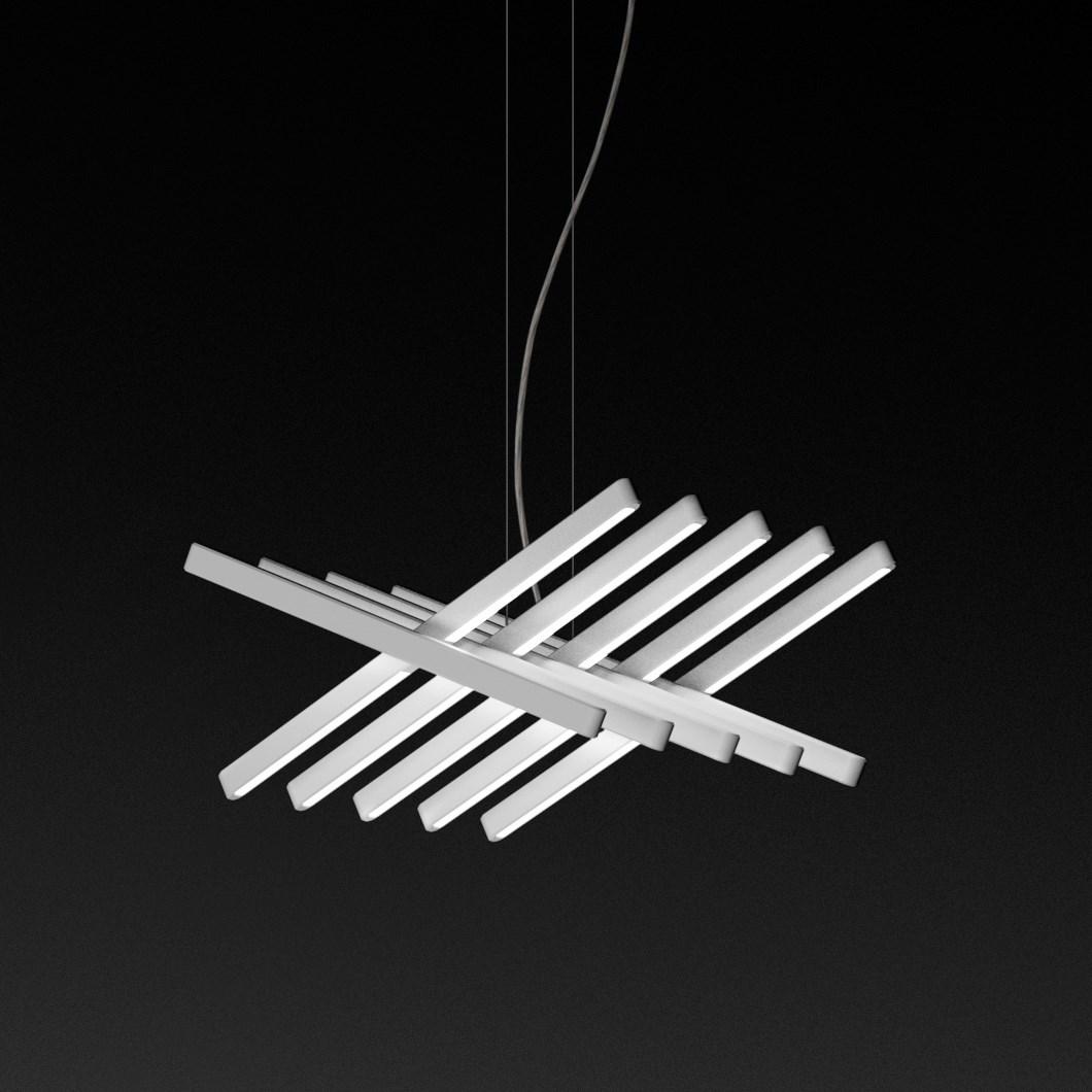 Vibia Rhythm Slim Horizontal Pendant Darklight Design