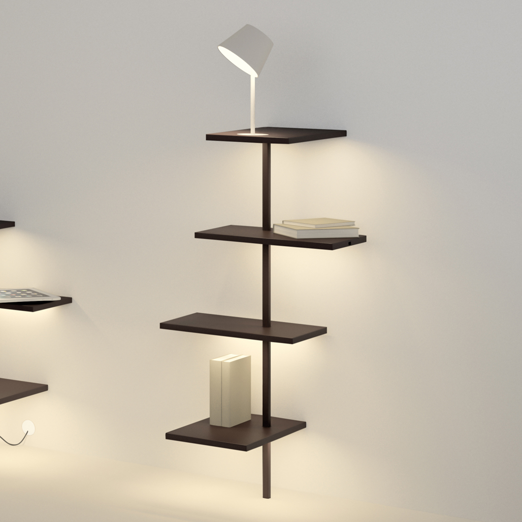 Vibia Suite Wall Mounted Shelf Darklight Design Lighting