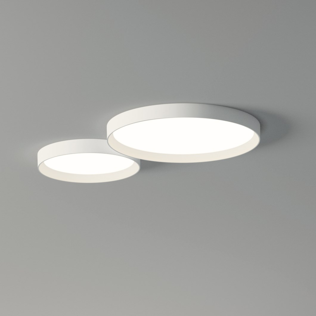 Vibia Up Double Circle Ceiling Light| Image : 1