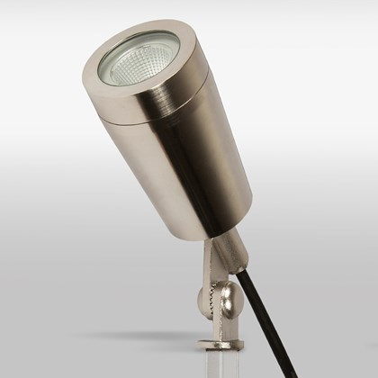 CLEARANCE X-Terior Dune LED Exterior Spike/Surface Spot Light: Stainless Steel, 2700K, 38d Beam