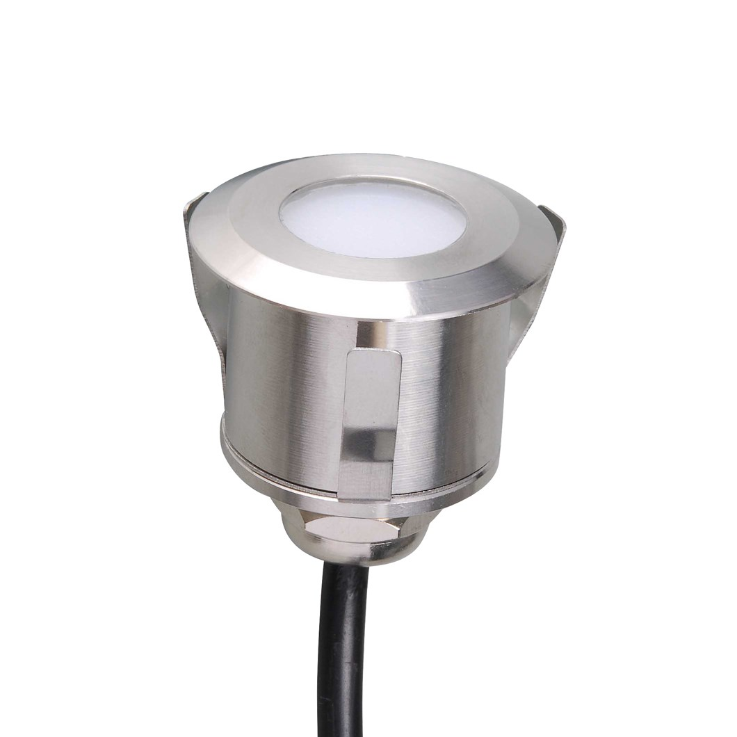 CLEARANCE X-Terior Lumis LED Recessed Exterior IP67 Deck Light: Stainless Steel, 2700K| Image:1