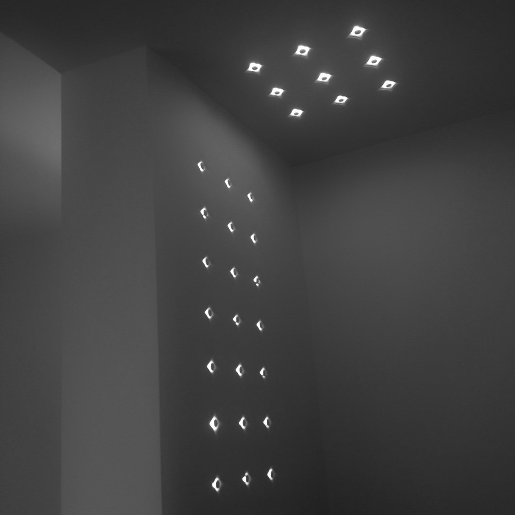 Brick In The Wall Button 2 × 2 LED Plaster In Wall Light| Image:1