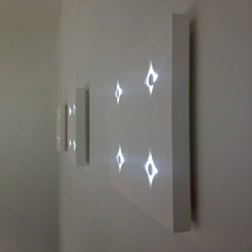 Brick In The Wall Button 2 × 2 LED Surface Wall Light| Image : 1
