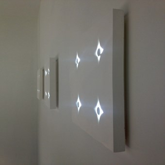 Brick In The Wall Button 2 × 2 LED Surface Wall Light