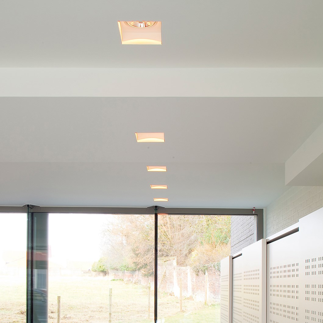 Brick In The Wall Indox 111 LED Recessed Plaster In Downlight| Image:1