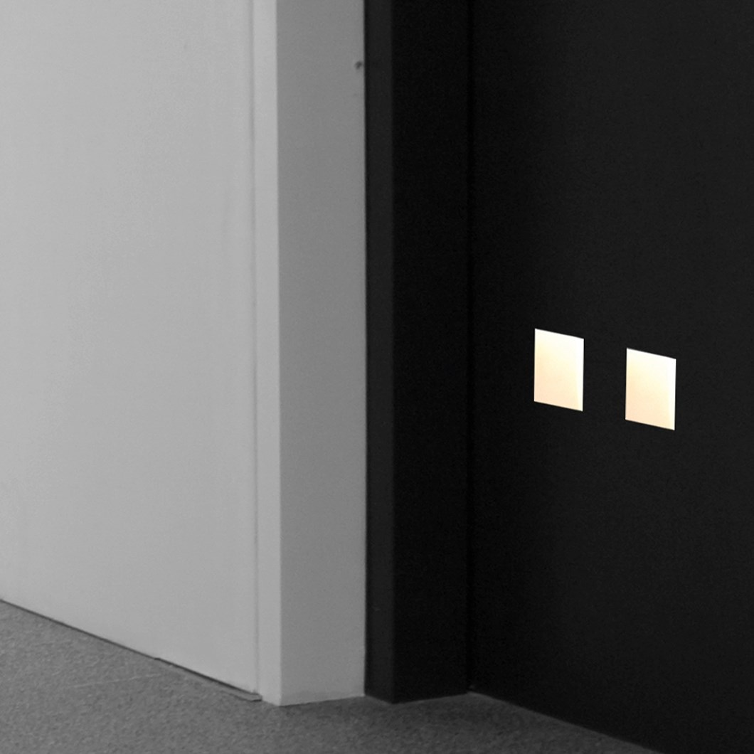 Brick In The Wall Mini Square LED Plaster In Recessed Light| Image:1