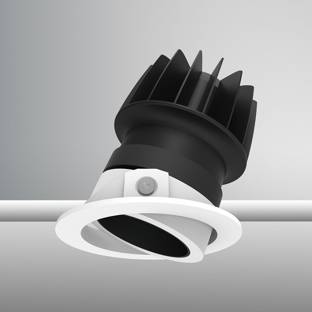 DLD Atlas Baffle LED IP44 Adjustable Recessed Downlight - Next Day Delivery| Image : 1
