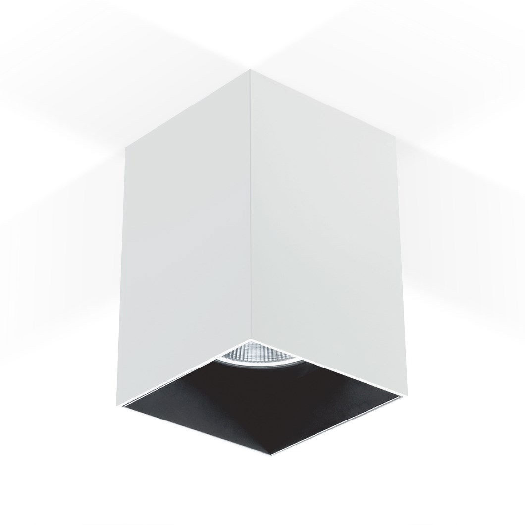CLEARANCE Darklight Bellona 100 White 20W Surface Mounted Spot Light | Image:1