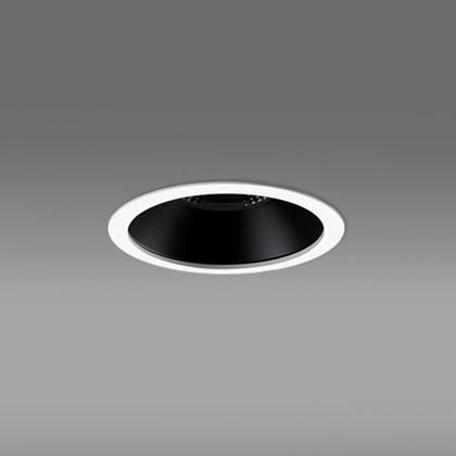 CLEARANCE DLD Diana LED IP44 Recessed Downlight: White Bezel, Black baffle, 3000K, 25d Beam