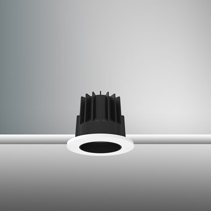 CLEARANCE DLD Everest LED Recessed Downlight: White Bezel, Black Baffle, 3000K, 60d Beam