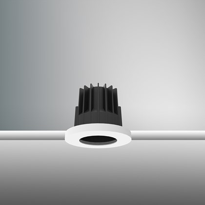 CLEARANCE DLD Everest LED IP65 Recessed Downlight: White Bezel, Black Baffle, 2700K, 40d Beam