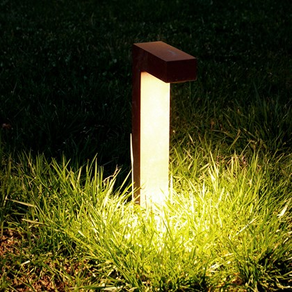 CLEARANCE Flexalighting Elle 6 IP65 Exterior Bollard Light: Black, H.400mm, 4200K