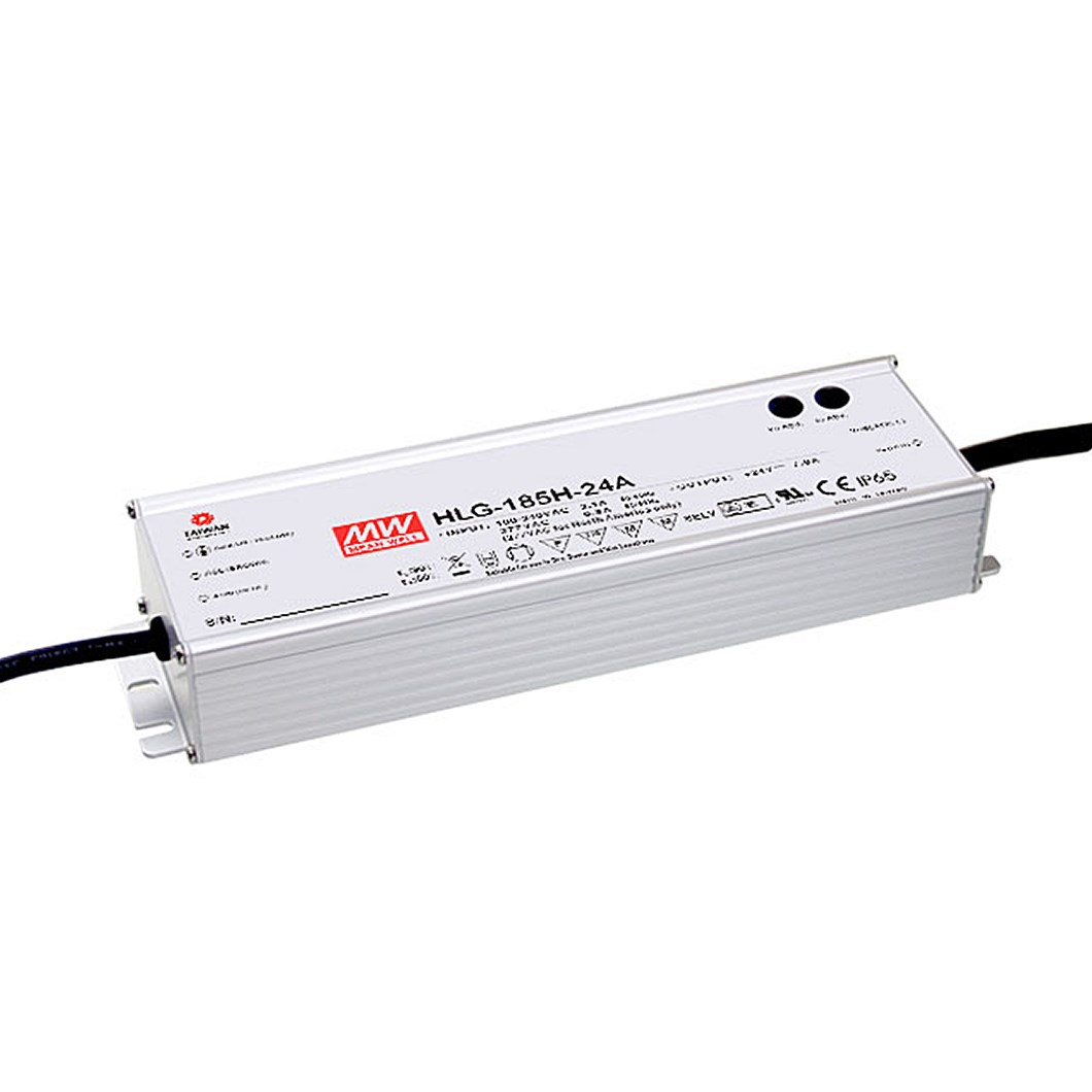 **Mean Well 24V 185W 1-10V Dim IP67 Constant Voltage Driver**| Image : 1