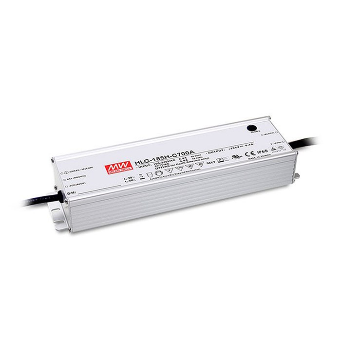**Mean Well 500mA 185W 1-10V Dim IP67 Constant Current Driver**| Image : 1