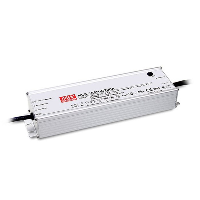 **Mean Well 700mA 185W 1-10V Dim IP67 Constant Current Driver**| Image : 1