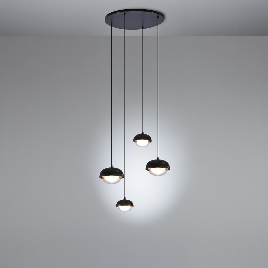 Tooy muse 4 cluster chandelier pendant image1