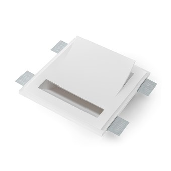 9010 Vele 2402G Plaster In Recessed Wall Light