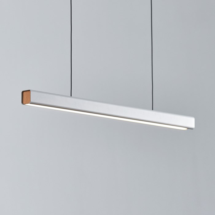 Seed Design Mumu P120 White & Beech LED Pendant - Next Day Delivery| Image : 1