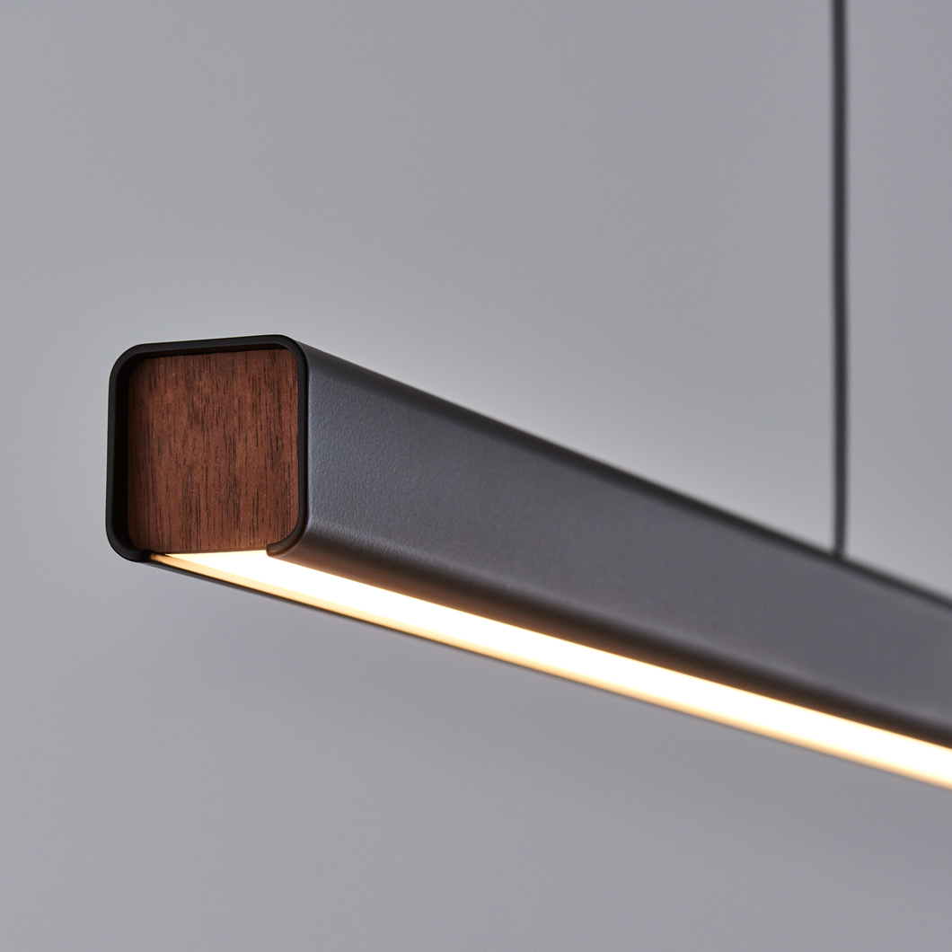Seed Design Mumu P120 Black & Walnut LED Pendant - Next Day Delivery