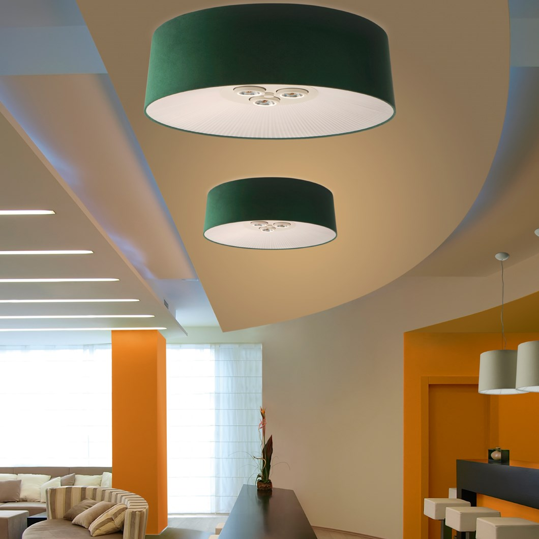 Axo Light Velvet Ceiling Light| Image : 1