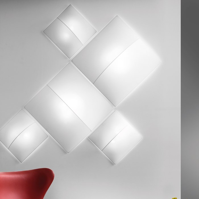 Axo Light Nelly Square Wall/Ceiling Light| Image : 1
