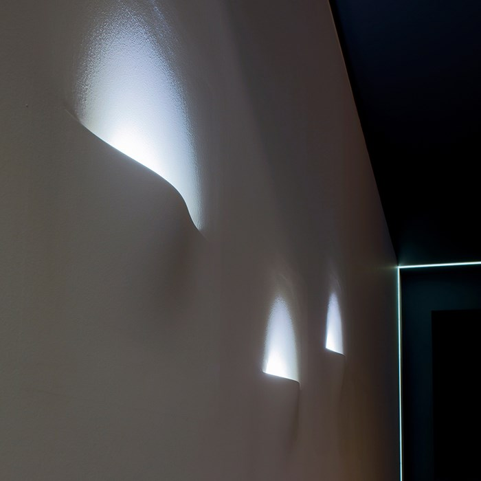 Brick In The Wall Atmos LED Plaster In Wall Light| Image : 1