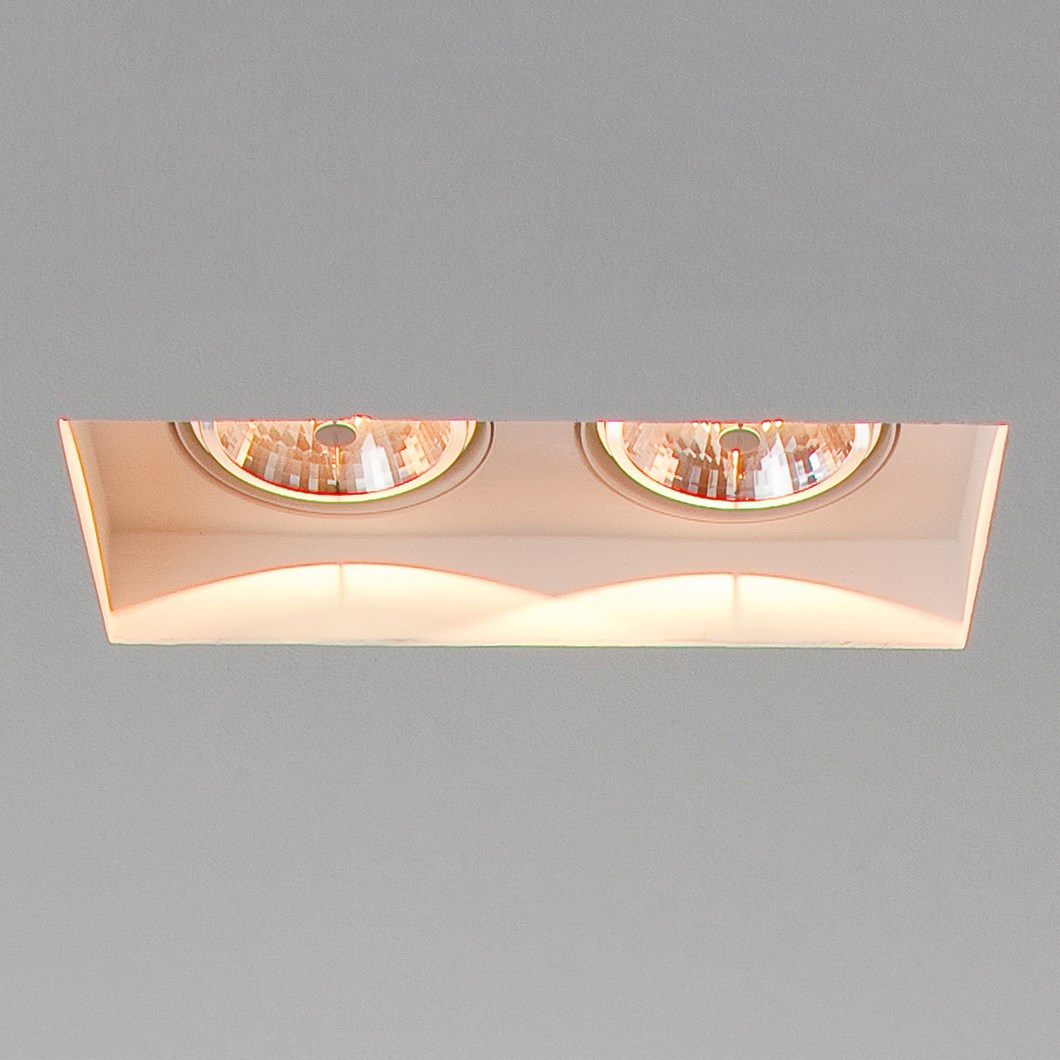Brick In The Wall Indox 2x111 Recessed Plaster In Downlight| Image : 1