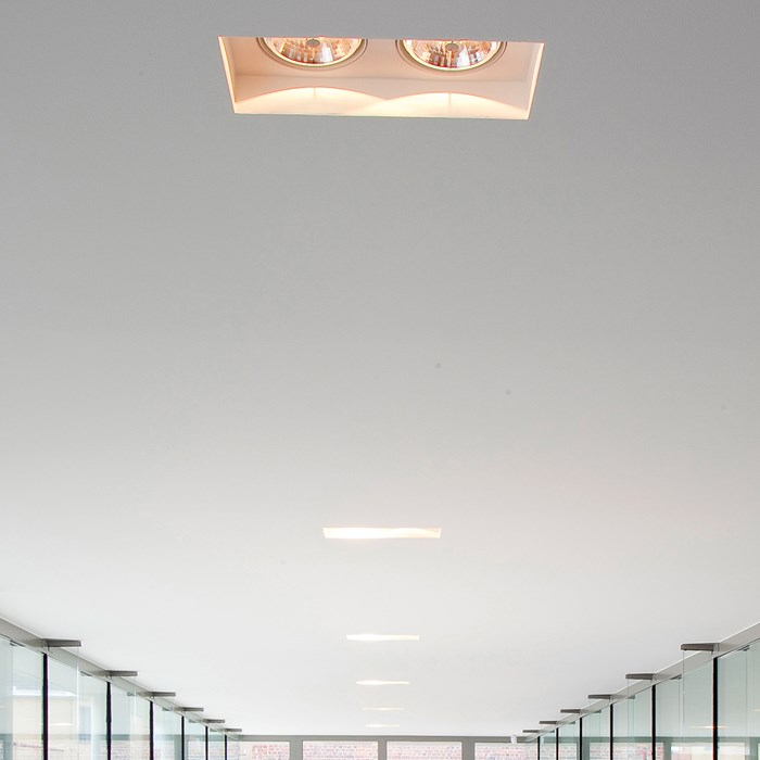 Brick In The Wall Indox 2x111 Recessed Plaster In Downlight| Image:1