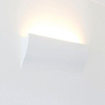 Brick In The Wall Wave LED Plaster In Wall Light