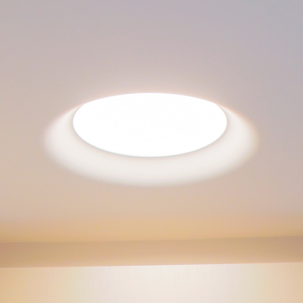 Brick In The Wall Flush 228 Plaster In Downlight| Image : 1