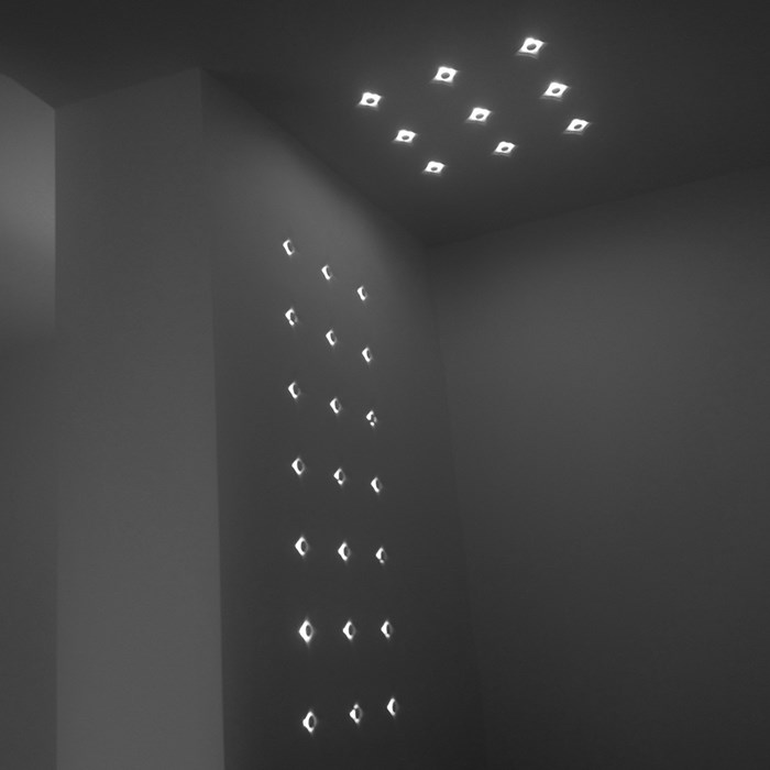 Brick In The Wall Button 20 LED Plaster In Ceiling Light| Image:1