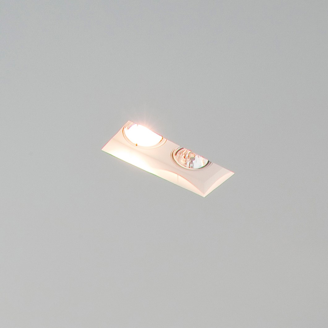 CLEARANCE Brick In The Wall Indox 2x50 Recessed Plaster In Downlight| Image : 1