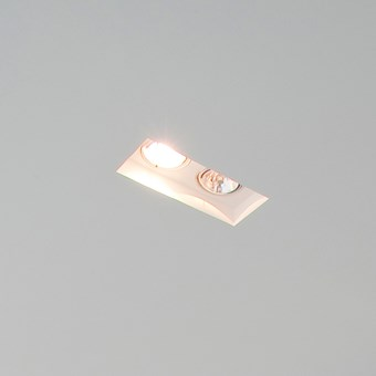 Brick In The Wall Indox 2x50 LED Recessed Plaster In Downlight