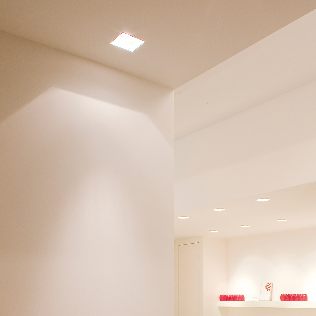 Brick In The Wall Indox 50 Mini LED Recessed Plaster In Downlight| Image:1