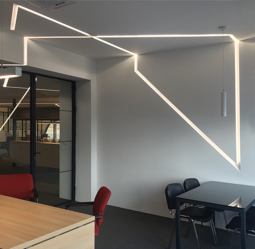 Nama Athina Modular 08 Curve R250 Out Plaster In Linear LED Profile| Image:23