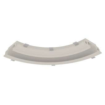 Nama Athina Modular 08 Curve R250 In Plaster In Linear LED Profile