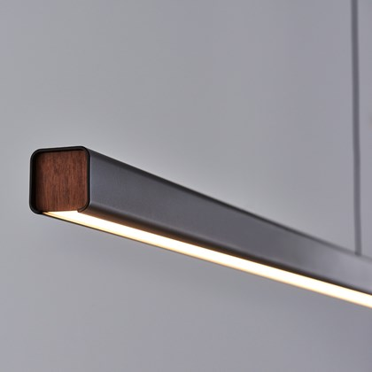 Seed Design Mumu P180 Black & Walnut LED Pendant - Next Day Delivery