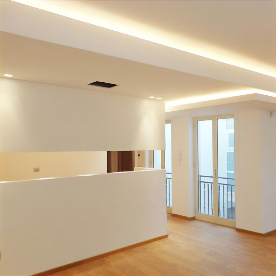Eleni Lighting EL501 Straight LED Linear Profile Cornice | Image:4