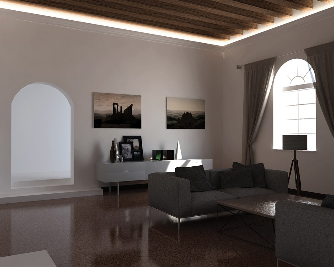 Eleni Lighting EL501 Straight LED Linear Profile Cornice | Image:23