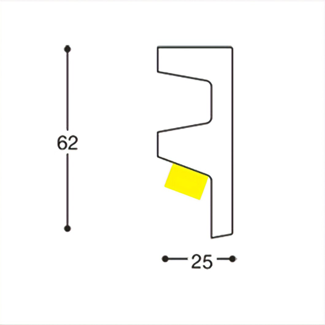 Dimensions diagram of Eleni EL501 linear profile