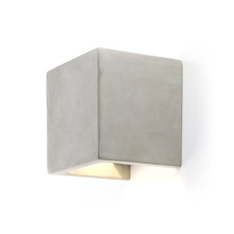 Seed Design Castle Square LED IP65 Concrete Wall Light - Next Day Delivery