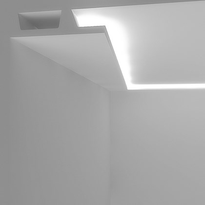 Eleni Lighting EL504 Wide Squared LED Linear Profile Cornice