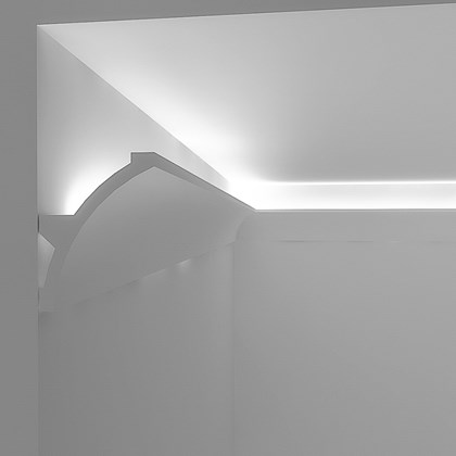 Eleni Lighting EL702 Curved LED Linear Profile Cornice